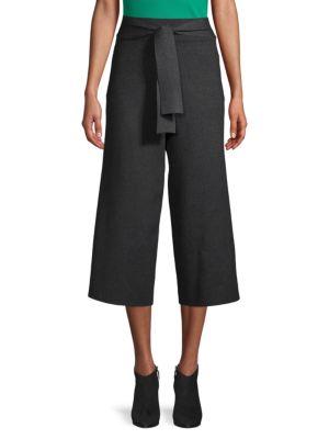 Saks Fifth Avenue Pull-On Wide-Leg Crop Pants