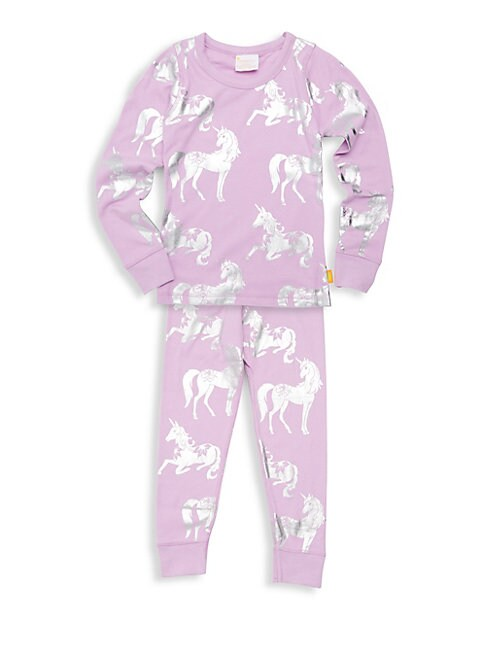 Little Girls  Girls TwoPiece Unicorn Cotton Pajama Set