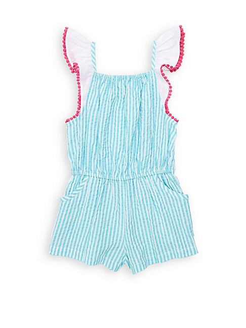 Little Girl's & Girl's Zuri Striped Cotton Romper