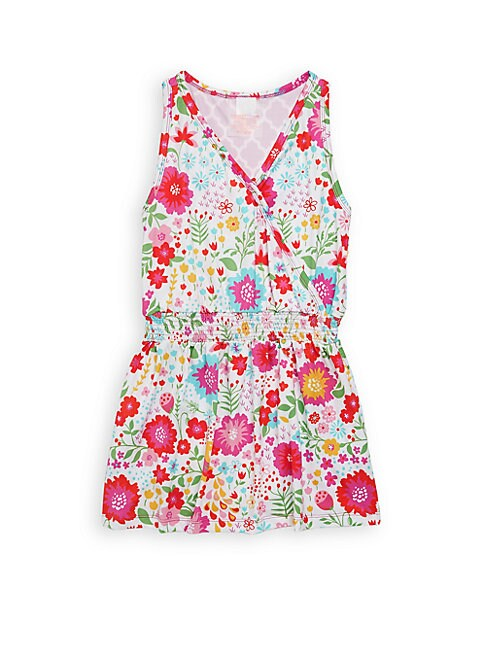 Little Girl's & Girl's Floral Wrap Dress