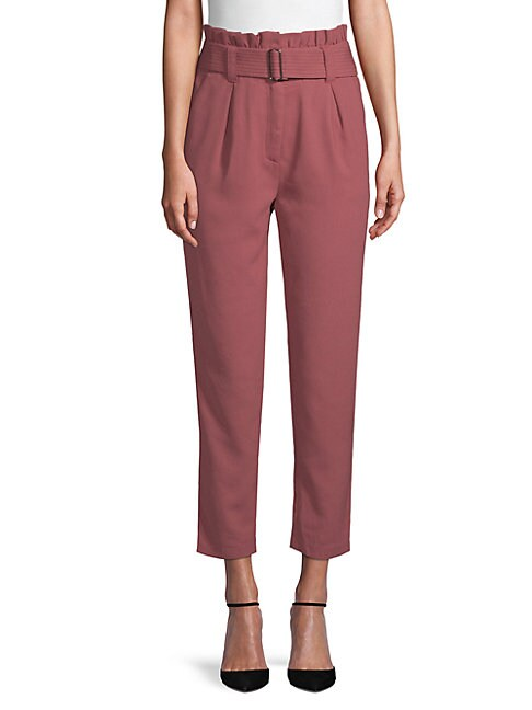 Moon River HIGH-WAISTED PAPER BAG TROUSERS