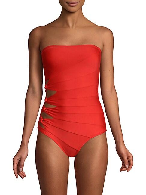 One-Piece Bandeau Swimsuit