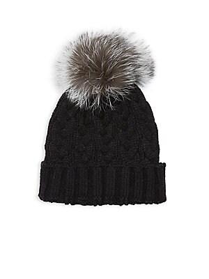 6d46c40967d Annabelle New York - Pom-Pom Knit Fox Fur Beanie - saksoff5th.com
