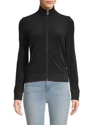 Juicy Couture Classic Long-Sleeve Zip-Up Sweater