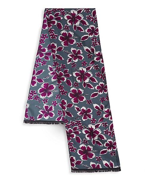 Tropical Floral Silk Scarf