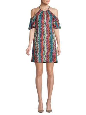TRINA BY TRINA TURK Viola Multicolored Floral Shift Dress