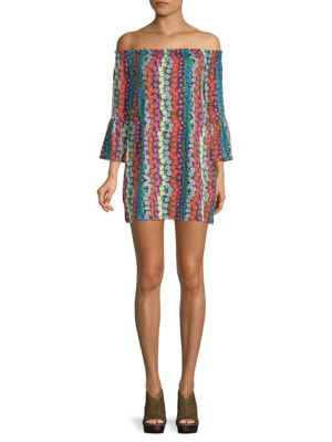 TRINA BY TRINA TURK Swing Bell-Sleeve Floral Dress in Multi