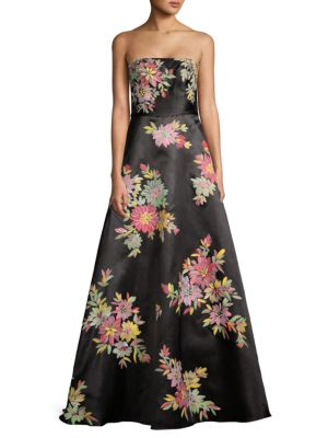 Basix Black Label Floral Strapless Ball Gown