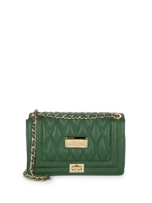 Valentino By Mario Valentino Leathers Quilted Leather Shoulder Bag