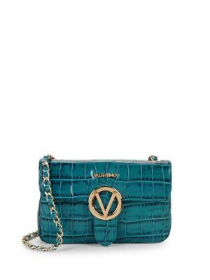 VALENTINO BY MARIO VALENTINO Croco-Embossed Crossbody Bag