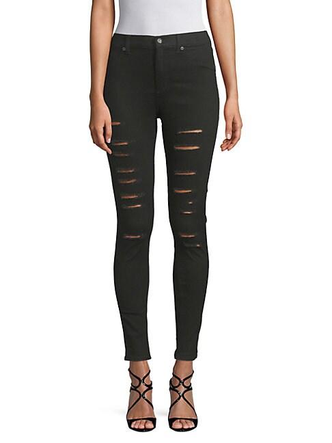 Ripped Skinny Stretch Jeans