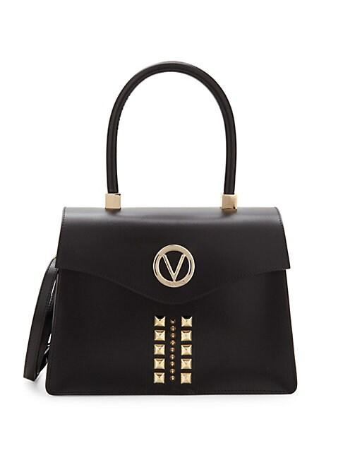 MARIO VALENTINO | Melanie Studded Leather Satchel | Goxip