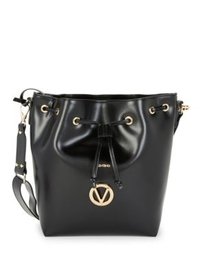 Valentino By Mario Valentino Appoline Drawstring Leather Bucket Bag