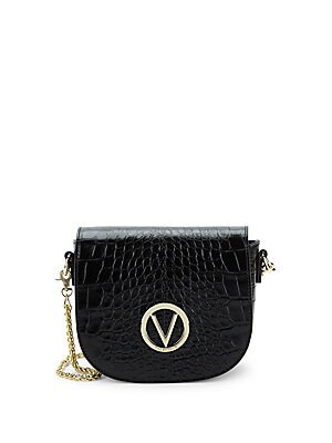 2ac224a120 Valentino by Mario Valentino - Josette Crocodile Print Leather Saddle Crossbody  Bag