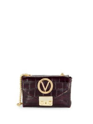VALENTINO BY MARIO VALENTINO Lola Embossed Leather Chain Crossbody Bag
