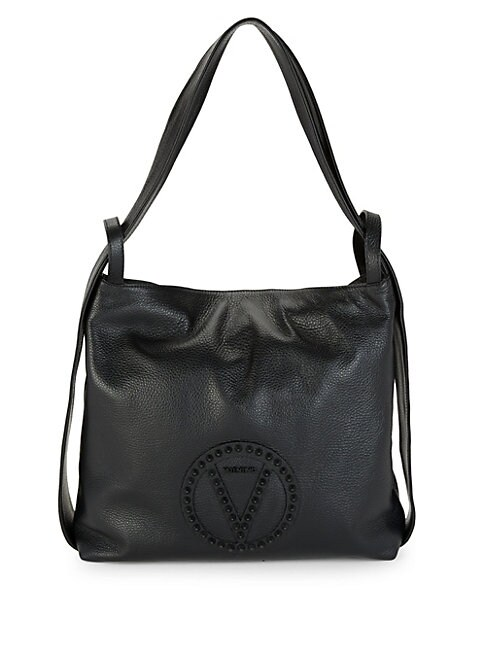 Leopold Leather Tote Bag, Black