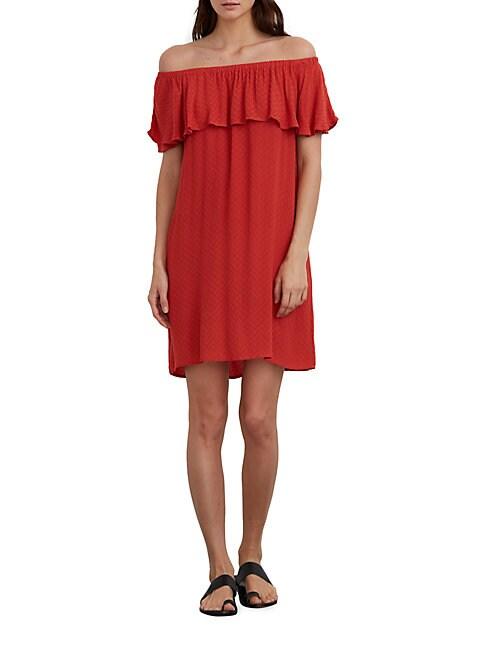 Chevron Off-The-Shoulder Dress