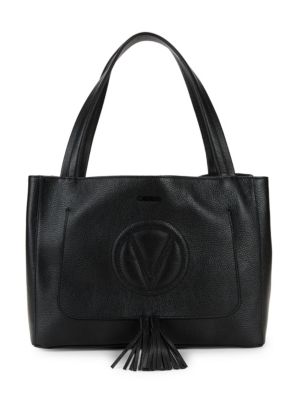 VALENTINO BY MARIO VALENTINO Ollie Grained Leather Tassel Tote