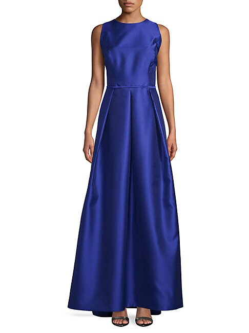 Mikado Cutout Satin Ball Gown
