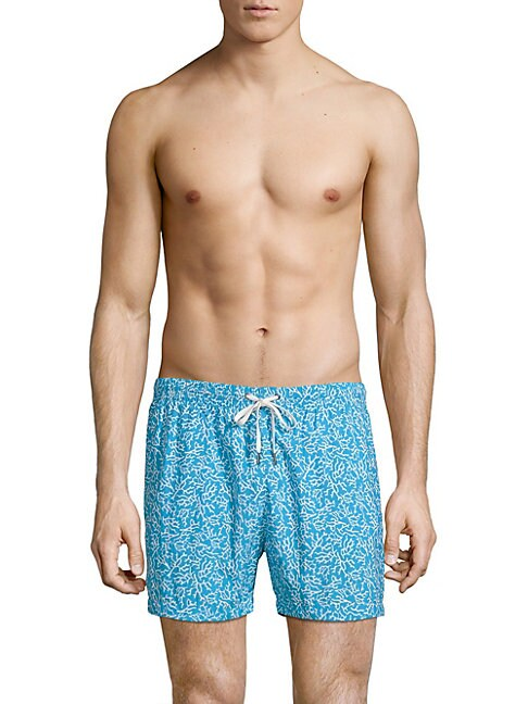 DANWARD Printed Swim Shorts in Turquoise