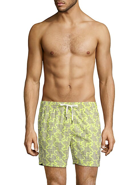 DANWARD Printed Swim Shorts in Yellow