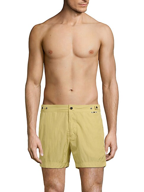 DANWARD Flat-Front Swim Shorts in Yellow