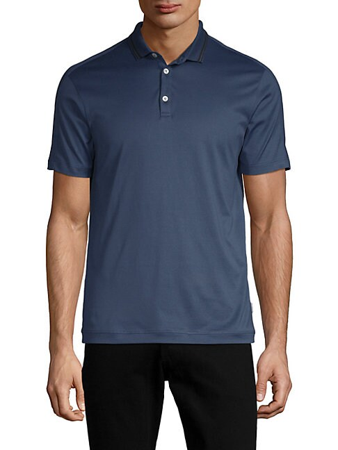 DANWARD Classic Cotton Jersey Polo in Slate