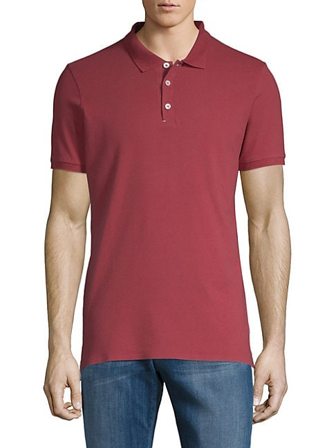DANWARD Classic Stretch-Cotton Polo in Raspberry