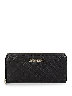 Love Moschino - Embossed Logo Continental Wallet
