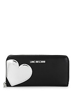 Love Moschino - Heart Faux Leather Continental Wallet
