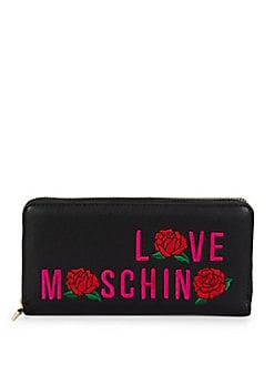 Love Moschino - Love Faux Leather Continental Wallet