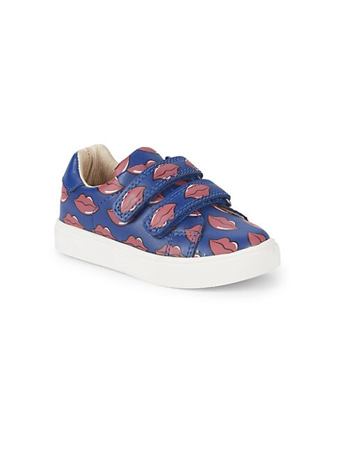 Little Girl's Axel Printed Leather Sneakers