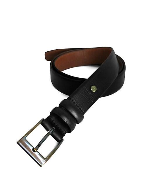 BOCONI | Boconi Narrow Embossed Leather Belt | Goxip
