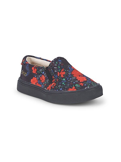AKID Little Girl'S & Girl'S Liv Graphic Slip-On Sneakers