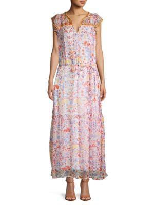 Antik Batik Floral Long Blouson Dress