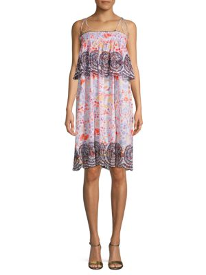 Antik Batik Printed Cotton Shift Sundress