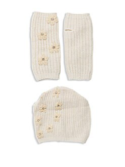86c674a1085 QUICK VIEW. Portolano. Two-Piece Embellished Beanie   Gloves Set