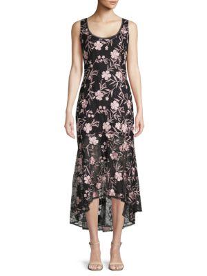Carmen Marc Valvo Lace Midi Sheath Dress