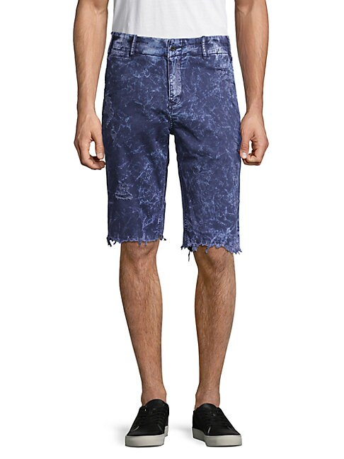 Frayed Cuff Grass Shorts