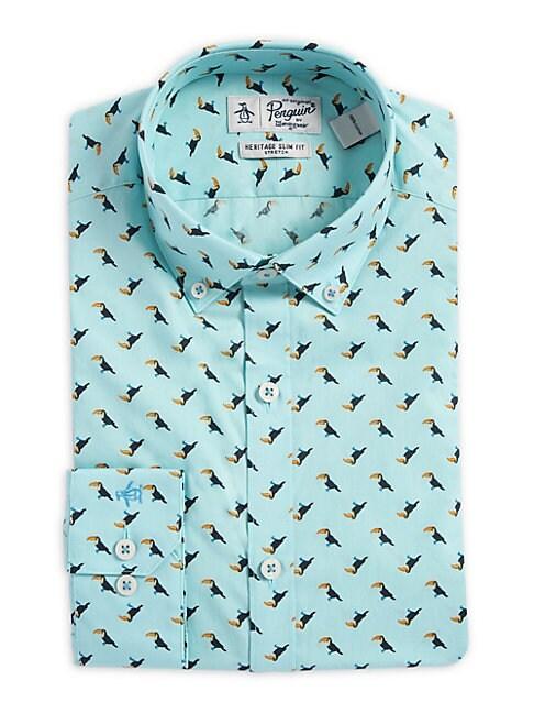 Slim-Fit Toucan Button-Collar Dress Shirt