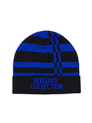 45f6d58b1394 Versace Collection - Logo Stripe Beanie - saksoff5th.com
