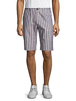 fiver - Bermuda Striped Shorts