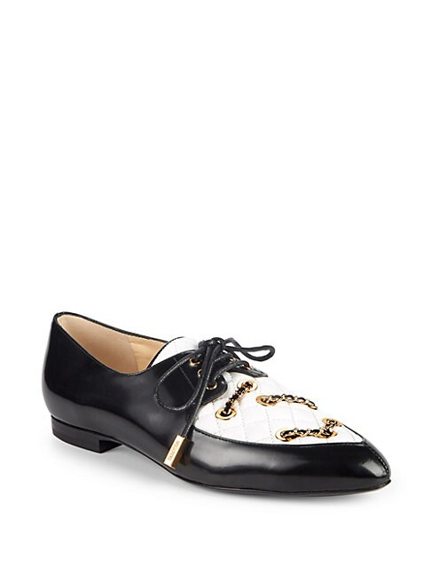 Colorblock Leather Oxfords