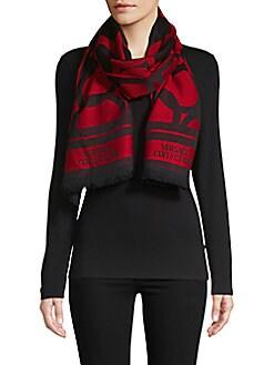 黑五提前!Versace羊毛围巾买一送一!