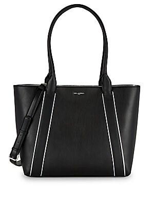 Karl Lagerfeld Paris - Cassandra Leather Suede Satchel - saksoff5th.com ba26917288e28