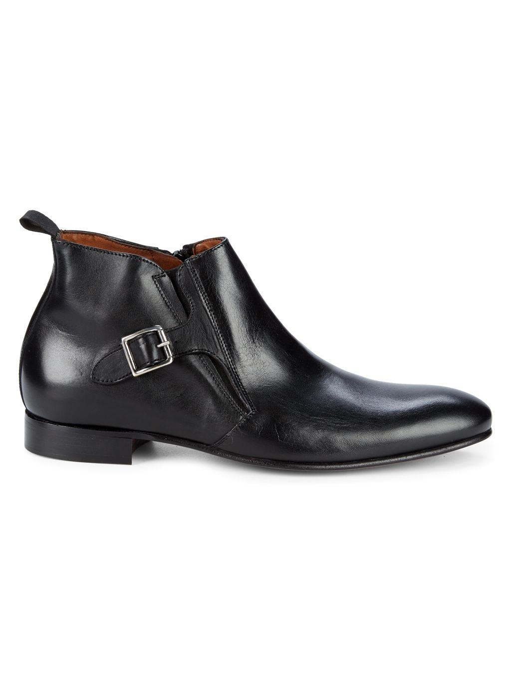 Massimo Matteo Buckled Leather Chelsea Boots