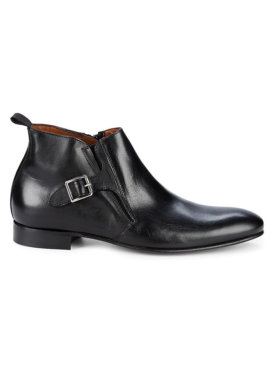 Men's Buckled Leather Chelsea Boots