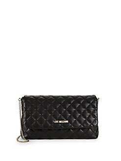 Love Moschino - Quilted Mini Faux Leather Crossbody Bag