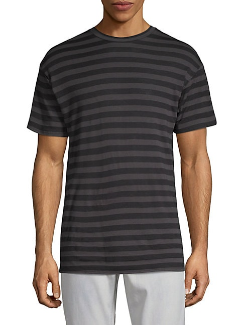 DRIFTER Smith Striped Tee in White