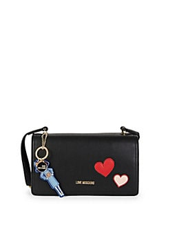 Love Moschino - Patch Faux Leather Shoulder Bag